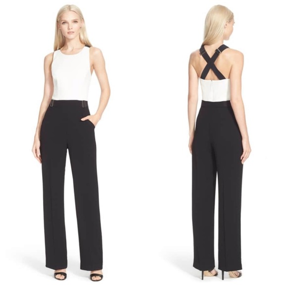 0f1551545898 NWOT TED BAKER LADIES  LYDYA CROSSBACK JUMPSUIT. M 5c4df1944ab63311849fa855